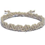 Natural hemp lace bracelet or anklet