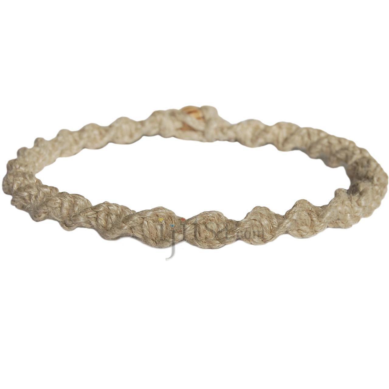 Natural hemp necklace