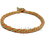 Pumpkin and pistachio round hemp bracelet or anklet