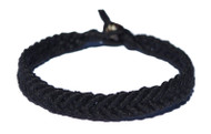 Black hemp Feather bracelet or anklet