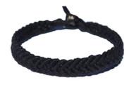 Black hemp Feather bracelet or anklet