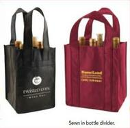 Non-Woven Reusable Bag - 6 Bottle Wine Tote