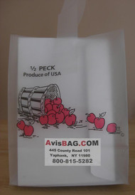 """1 Peck Apple Frosted Tote bag -""""Custom Imprint"""" See detail for ordering"""