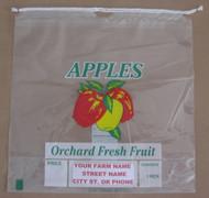 1/2 Bushel Drawstring Apple bag - Custom Imprint