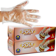 High Density Plastic Poly Gloves