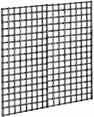"3"" Square Grid Panel Chrome 4'Wx4'H"