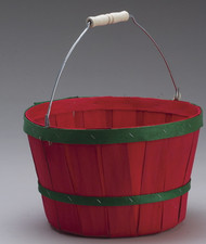 One Peck Basket W / Bands w/handle 10