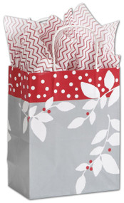 """Silver Serenade Shoppers 25 Gift Bag Pack - 8.25x4.75x10.5"""""""