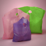 Frosted Bell-top Shopper Take-out Bag