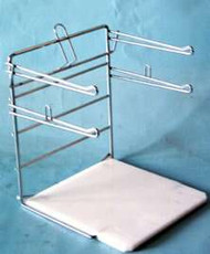 T-shirt bag rack for 1/6 bbl.