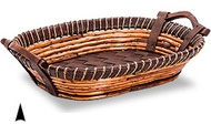Oval Fancy Willow & Twine Tray Pack 4 per case