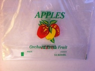 1/2 Peck Vented Apple Drawstring bag
