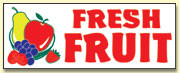 Fresh Fruit Banner 8' x 3'