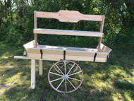 Old Fashion Amish wood display cart Unfinish