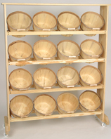 Wood Display Rack w/16 One Peck baskets