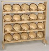 Wood Display w/20 Half Peck baskets
