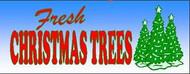 Fresh Christmas Trees banner 8' x 3'