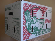 1 1/9 BUSHEL Waxed Vegetable/Produce Box MUM