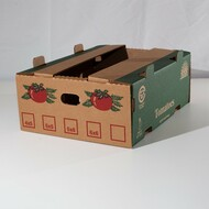 20 lb Tomato Box ECT 44 Kraft Printed
