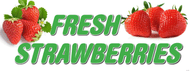 Fresh Strawberries banner Heavy Duty