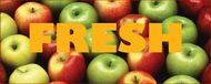 Fresh Apples banner 10' x 3'