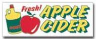Fresh Apple Cider banner 8' x 3'  Reg$49.95