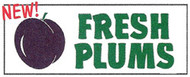 Fresh Plums banner 8' x 3'