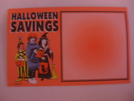 Halloween Savings Price Card 7 x 11