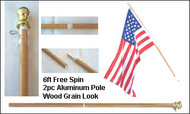 "Flag Pole ""Spin Free"" 6'"