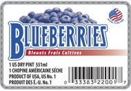 Blueberry Label - 1 Pint w/UPC