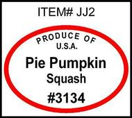 Pie Pumpkin PLU #3134 Label
