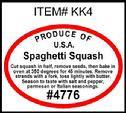 Spaghetti Squash PLU #4776 Label