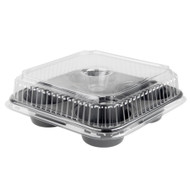 Clear Dome Lid for Dual Ovenable 4 Cup Plastic Muffin Pan