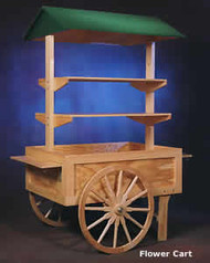 Wooden Flower Cart