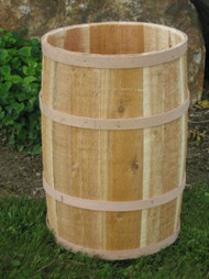 Barrel - Cedar barrel w/Optional Lid 14x23