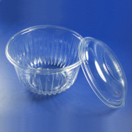 Plastic Bowl w/Lid 16 oz. Clear