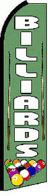 Billiards Tall Flag