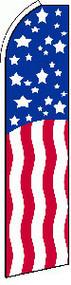USA Stars & Stripes Tall Flag