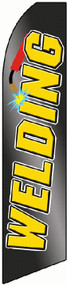 Black/Yellow Welding Tall Flag