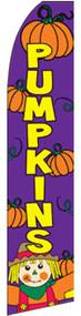 Pumpkin Scarecrow Tall Flag