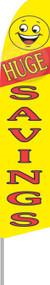 Huge Savings Yellow Tall Flag