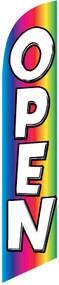 Open Rainbow Tall Flag
