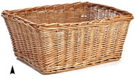 "Oblong Willow Bucket 21"" x 16"" x 9"" pack 4/case"