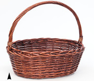 Oval Stained Willow Basket