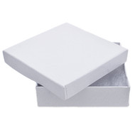 "Jewelry Box - White 3.5"" Square"