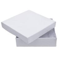 """Jewelry Box - White 3.5"""" Square"""