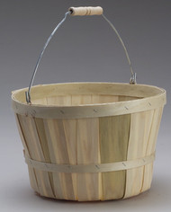 One Peck Basket Natural w/Handle