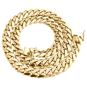 """10K Yellow Gold 12.50mm Solid Miami Cuban Link Chain Box Clasp Necklace 22""""- 30"""""""
