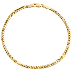 10K Yellow Gold 2.90mm Super Solid Miami Cuban Link Statement Bracelet 7 Inches