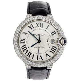 Ballon Bleu De Cartier 42mm Silver Dial Diamond Watch Ref. # W69016Z4 3.50 CT.